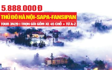 Tour du lịch trong nước | Sapa | Hà Nội | 3N2Đ