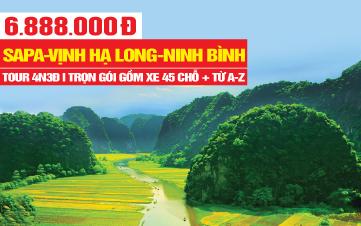 Tour du lịch trong nước Sapa | Hạ Long | Ninh Bình 4N3Đ