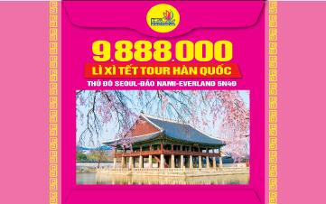 Du lịch Hàn Quốc Cao Cấp 5N4Đ trọn gói 9tr888 Seoul | Namsan Tower | Đảo Nami | Everland