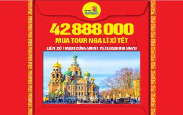 Du lịch Nước Nga | | Moscow | Saint Petersburg 8N7Đ