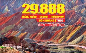 Tour du lịch Trung Quốc | Con đường Tơ Lụa | 7N6Đ