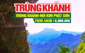 Tour du lịch Trung Quốc | Khám phá Trùng khánh | Núi Jinfo - Kim phật sơn - Núi phật vàng đặc sắc giá rẻ | 4N3Đ