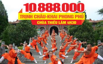 Tour du lịch Thiếu Lâm Tự - Trịnh Châu - Khai Phong Phủ - Vũ Hán
