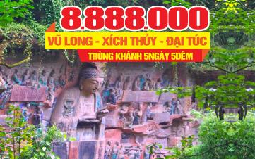 Tour du lịch Trùng khánh  Tour du lịch Xích Thủy | Tour du lịch Trung Quốc 5N4Đ