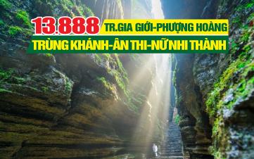 Tour du lịch Phượng Hoàng Cổ Trấn - Trương Gia Giới | Tour du lịch Ân Thi -Nữ Nhi Thành | Tour du lịch Trung Quốc 6N6Đ