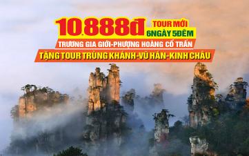 Tour du lịch Phượng Hoàng Cổ Trấn - Trương Gia Giới | Tour du lịch Kinh Châu | Tour du lịch Trung Quốc 6N6Đ