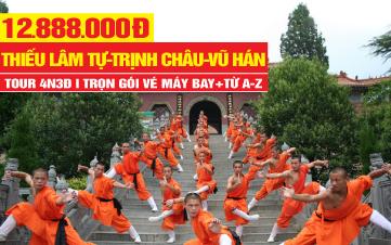 Tour du lịch Trung Quốc| Thiếu Lâm Tự | Trịnh Châu | Khai Phong Phủ | Vũ Hán | 4N3Đ