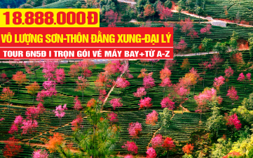 Tour du lịch Vân Nam | Đại Lý | Lệ Giang | Thung Lũng Hoa Đào Vô Lượng Sơn - Thôn Ngân Hạnh Đằng Xung 6N5Đ
