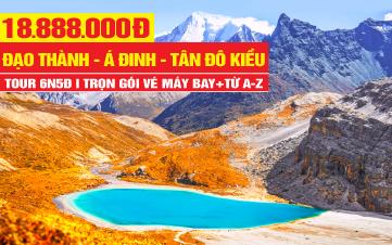 Tour du lịch Á Đinh - Đạo Thành | Daocheng - Yading | Thắng cảnh Tây Tạng tại Tứ Xuyên - Trung Quốc 7N6Đ