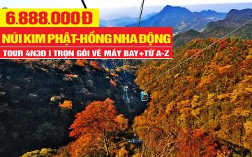 Tour du lịch Trung Quốc | Khám phá Trùng khánh | Núi Jinfo - Kim phật sơn - Núi phật vàng đặc sắc giá rẻ