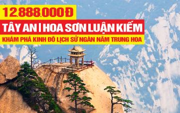 Tour du lịch Tây An - Lăng Mộ Tần Thủy Hoàng - Núi Hoa Sơn | 4N3Đ