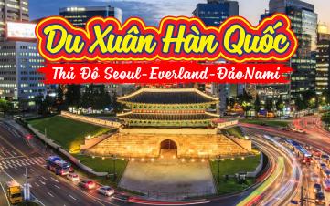 Seoul | Namsan Tower | Đảo Nami | Everland 5N4Đ