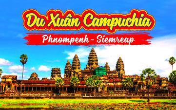 Du lịch Campuchia 3N2Đ | PhnomPenh | Siemreap | Angkor K.H MÙNG 2,3,4 TẾT 2018