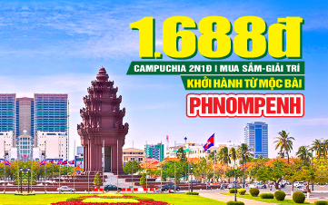 Tour du lịch Campuchia Lễ 2/9 | Thủ đô Pnomphenh | 2N1Đ