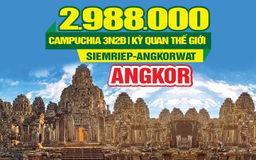 Tour du lịch Campuchia 4Sao | Cầu Rồng Cổ | PhnomPenh | Siemreap | Quần Thể Angkor | 3N2Đ