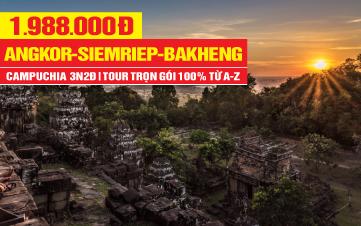 Tour du lịch Campuchia 4Sao | Quần Thể Angkor Vip Tour | PhnomPenh | Siemreap | Cầu Rồng Cổ | 3N2Đ