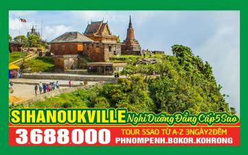 Chương trình du lịch cao cấp 5 Sao Thasur Bokor - Sokha Beach 3N2Đ