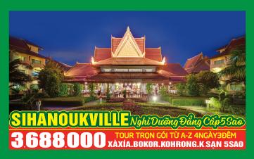 XÀ XÍA - Chương trình du lịch cao cấp 5 sao Thasur Bokor - Sokha Beach 4N3Đ