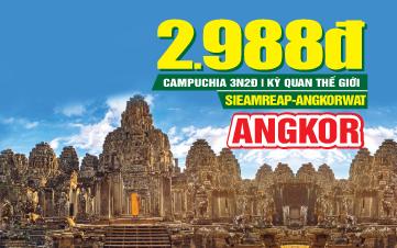 DU LỊCH CAMPUCHIA   PhnomPenh   Siemreap   Angkor  3N2Đ