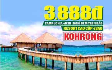 Tour du lịch Campuchia lễ 2/9 Ngủ Đảo Kohrong | Phnomphenh  | Hoàng Cung | Chùa Vàng | 4N3Đ