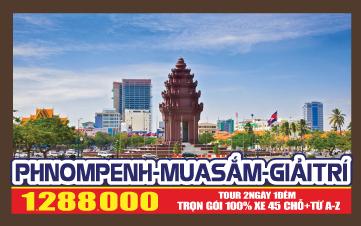Thủ đô Pnomphenh 2N1Đ - Giá chỉ 1.2 triệu đồng