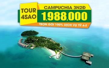 Du lịch Campuchia 4Sao 1tr988 PhnomPenh | đảo KohRong 3N2Đ