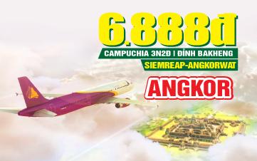Tour du lịch Campuchia - SieamReap - Angkor Wat - Máy bay 3N2Đ