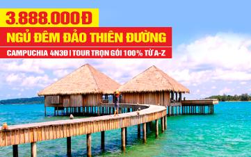 Tour du lịch Campuchia Ngủ Đảo Kohrong | Phnomphenh  | Hoàng Cung | Chùa Vàng | 4N3Đ