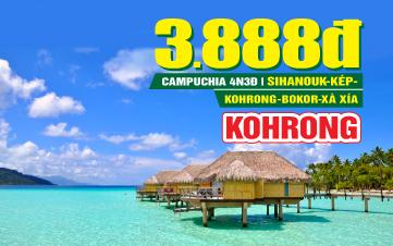 Tour du lịch Campuchia Ngủ Đảo Xà Xía Kohrong | Sihanoukville | Kép | Bokor | 4N3Đ