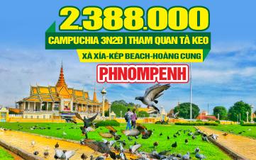 Tour du lịch Campuchia Xà Xía   Kép   Tà Keo   Thủ Đô Phnomphenh   3N2Đ