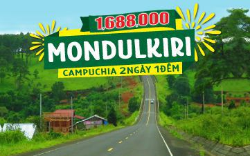Du lịch Mondulkiri Campuchia 2N1D | Núi rừng nguyên sinh | Thảo nguyên xanh