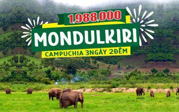 Du lịch Mondulkiri | Campuchia 3N2Đ | Thung lũng voi | Núi rừng nguyên sinh | Thảo nguyên xanh