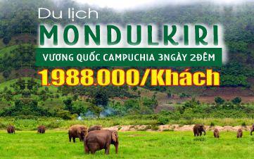 Du lịch Campuchia 3N2Đ | Mondulkiri | Núi rừng nguyên sinh | Thảo nguyên xanh | Thung lũng voi