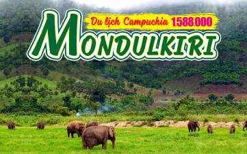 Du lịch Mondulkiri | Campuchia 2N1Đ | Thung lũng voi | Núi rừng nguyên sinh | Thảo nguyên xanh