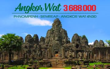 Siemreap - Angkor Wat - Thủ Đô Phnompenh 4N3Đ