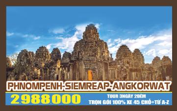 Tour du lịch Campuchia 4Sao | PhnomPenh | Siemreap | Angkor | 3N2Đ