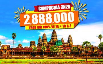 Du lịch Campuchia 4Sao 2tr888 PhnomPenh | Siemreap | Angkor 3N2Đ