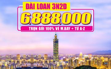 Du Lịch Đài Loan 3N2Đ Khởi hành từ Đà Nẵng