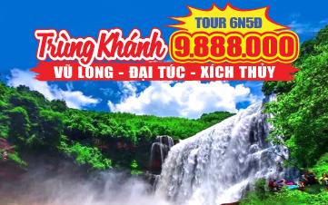 Du Lịch Trùng Khánh - Vũ Long - Đại Túc Ngàn Năm - Thác Đại Xích Thủy 6N5Đ