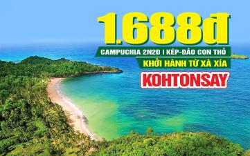 Tour du lịch Campuchia | ĐẢO CON THỎ KOH THONSAY | 2N2Đ
