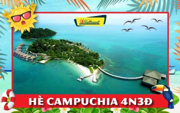 Du lịch Campuchia Hè 4Sao Thiên đường biển Kohrong | Sihanoukville | Kép | Bokor 4N3Đ