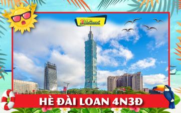 Du lịch Đài Loan Hè 4sao 4N3Đ