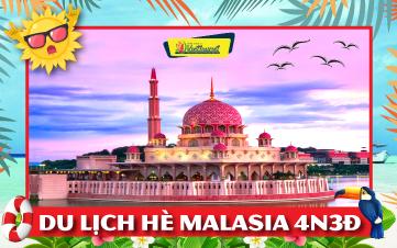 Du lịch Malaysia Hè 5Sao Kualalumpur | Putrajaya | Malacca | Genting 4N3Đ