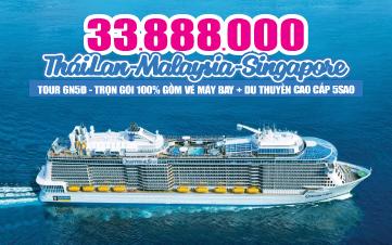 Tour Du Thuyền Quantum 5Sao Khám Phá Đại Dương Đảo Quốc Singapore | Kulalumpur City | Penang | Phuket| 6N5Đ