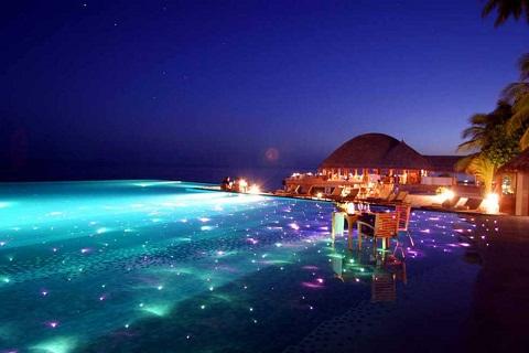 Maldives quyến rũ  về đêm