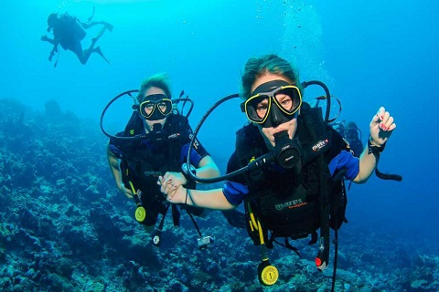 Lặn biển ở Maldives