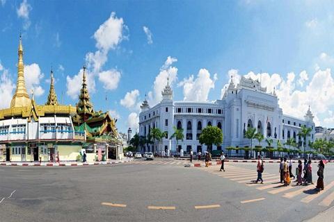 Tòa thị chính Yangon Myanmar - Kiến trúc Miến Điện điển hình