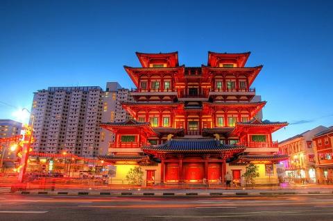 CHÙA RĂNG PHẬT LINH THIÊNG Ở KHU CHINA TOWN SINGAPORE