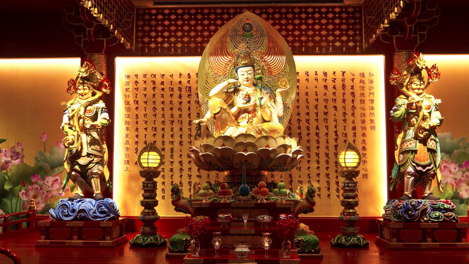 chùa răng phật ở china town singapore
