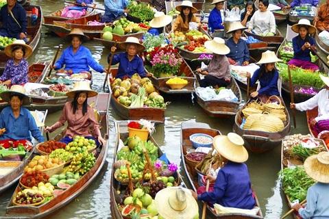 Chợ nổi Bốn Miền Pattaya – Điểm đến du lịch hấp dẫn